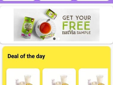 This is milk dairy, groceries and staples product online ordering app, This is user friendly and eye caching UI design, its has also online payment gateway