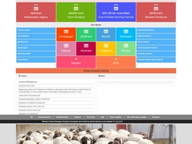 """mahamesh.co.in is a Govt website of Maharashtra. It is for welfare of people who want to start their business of Goats and Sheep. You can check my work from website link """"http://mahamesh.co.in/"""" My responsibility in this website was as below: 1. Design in HTML , Boostrap. 2. Client side code in jquery/javascript 3. Server side code in c# 4. .Net framework: 4.6.1 5. Website content handled in two languages: English and Maharashtra"""