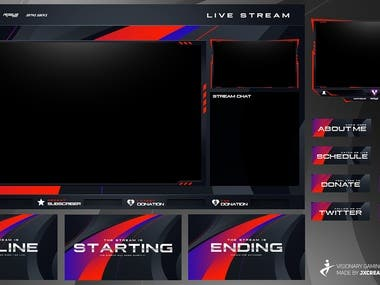 #Twitch#Overlay#Screen#Stream#Youtube#Graphic#Design