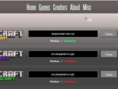 GAMERS WEBSITE