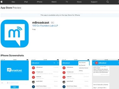 mBroadcast is an outreach app using which you can broadcast a message to a group of people and receive their response privately. mBroadcast can be used to collect opinion, feedback, likes, poll results, etc. from masses for analytical study.  mBroadcast is useful for conducting surveys, market study, opinion polls, product feedback, movie reviews, etc.