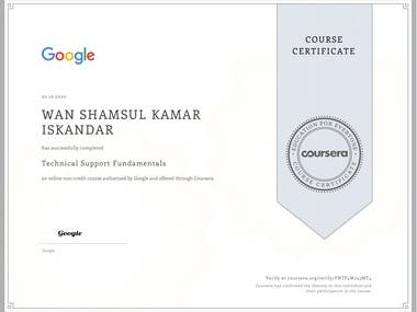 Course 1 of 5 to become a certified Google IT Support Specialist.