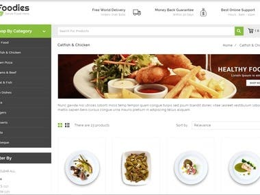 This is the shopping site for the food service.