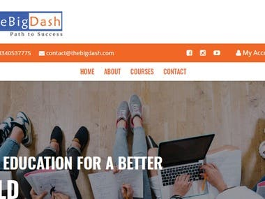 this is a online education web site, for online courses.