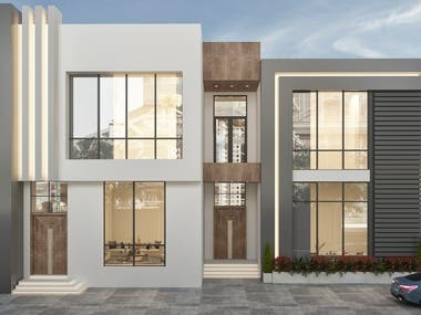 Modern design for a villa in UAE