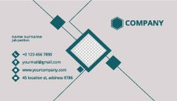 Professional corporate business card design, simple and clean business card template design.