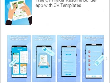 In this App:  -->  User can add and save the information:          -- Personal information          -- Academic information          -- Working Experience         --  Documents Attach if any -->  User can Edit and Update the above Information. -->  Many Templates can show user and select it any one. --> Generate the CV in PDF Format.