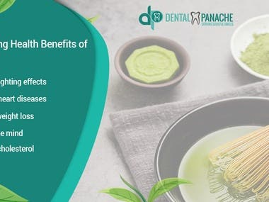 Benefits of Matcha you can use on social media and also on website.