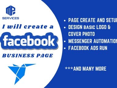 I will create Facebook business page professionally. which help your business to grow up. I will be able to add your offline Store to Facebook shop. Also i will do awesome Automation for your Facebook page messenger. I can run Facebook ads for your online business.