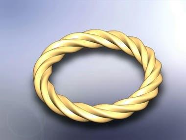 Ring, necklace, bracelet