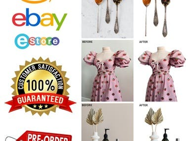 You are looking for a professional graphics designer . you've come to the right place . Yes I am professional graphics designer .  I'll edit your product photos very carefully , For you can sell more and more . You can hire me for  your project. I will always try to my  best .   My Service :   Background Remove  White and color Background  Clipping path Retouch  Product color change  Object Remove  Re-size , crop Add text  Transparent Background  Color Correction