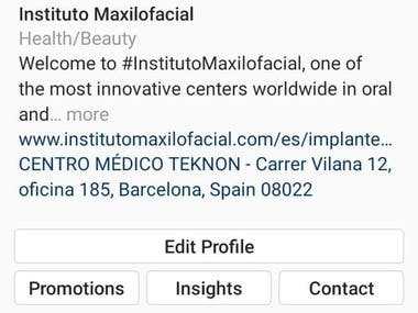 Hi Already promoted this page. Beauty and Health Page.Targeted area Spain.Here is details account Insight Views