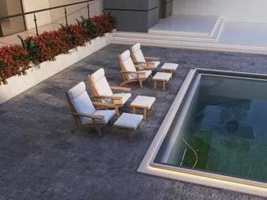 Exterior design for villa in Dubai