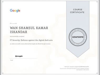 Google / Coursera Course 5 of 5 to become a certified Google IT Support Specialist.