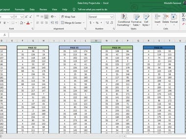 DATA Entry - Handwritten forms into excel spreadsheets.