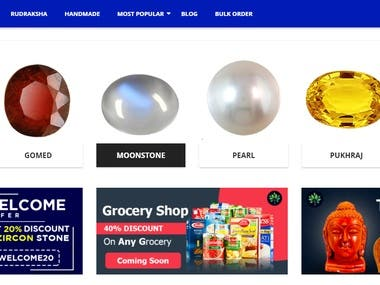 A complete Ecommerce website with all feature.