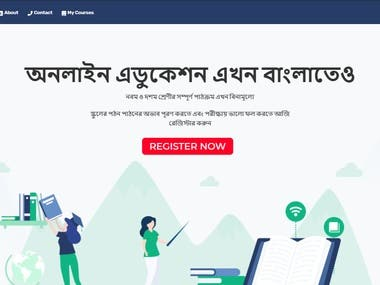 A complete Education Website.