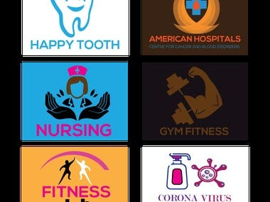 @I will design best medical,dental.nursing,gym,fitness,cleaning logo@ These logos are basically medical,dental.nursing,gym,fitness,cleaning logo design.I tried to do Something new.That's all demo work.