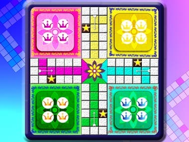 2D Game design for ludo board