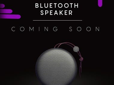 Bluetooth speaker coming soon post for social media