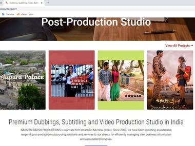 nakshndaksh productions.com is an Etertainment related website . -in this website  we can use WordPress CMS , Custom ,HTML ,CSS . it's Made in Php frame work . -Mockup design is made in Photoshop.