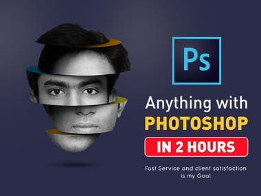 I will provide service for Photo Manipulation | Retouch | Graphic Designer | Professional Editing | Manipulation  Quality work and your Satisfaction from my designed work is my Photoshop Editing Work Aim.I am a professional graphic designer. I will deliver you professional photo editing and manipulation services with high-quality results. With photo manipulation services my buyer will receive edited pictures as dreamed.  Please send a high-resolution image for better results.  Services Offered:  Photo Manipulation Photo Editing Cropping / resize / aligning  Add / Remove or Replace anything in your photo background removal / changing Color Correction / Enhancement  Advanced filter effect (sunny, cloudly, cut out, blur, etc) attires adding (Pant, Shirt, Watch, jewelry, glasses, hair & beard)  You will Get:  High Quality / High-resolution Edited image Editable Photoshop Source file On-time Delivery Guaranteed  If you have any Questions, Feel Free to Contact via Fiverr Inbox. Thank you