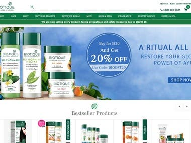 Buy 100% Organic and Ayurvedic skin care, hair care, baby care, beauty and wellness products. Biotique offers best ayurvedic products online at lowest price in ...