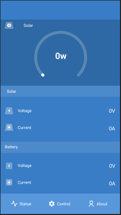 Use the SmartSolar App to monitor, control and diagnose your solar panel via Arduino Available for Android. It can connect to solar panel via Bluetooth by Arduino.