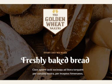 We built this bakery website for online sales and booking orders