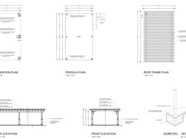 Dear client I can provide you patio & pergola drawing for the city approval.  I can provide you:- Patio 3D views Property Drawing Floorplan Section Side Elevation Front/Back Elevation Materials Details Client Title Sheet