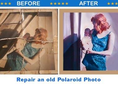 REPAIR OLD POLAROID PHOTO