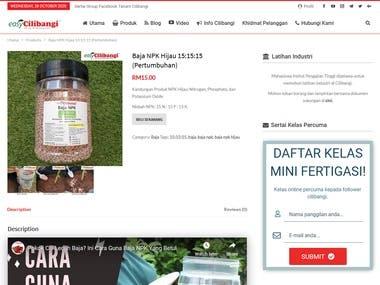 E-commerce for cilibangi.com