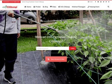 I build this website for agriculture sector, which focus on brand cilibangi.com. this setup include woocomerce for their learning management system and blogs for articles.