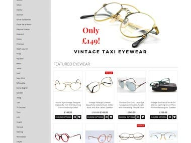 Eyehuggers is a BigCommerce Website that provides truly vintage style and designer eyewear. As the business offers a huge variety of eyewear so I made separate categories for each product to improve user experience. I made the entire website layout in a way that users can get attracted to the products in a single sight.   The admin panel of the website is also built to simplify the sales & purchase management operations so that the owners can keep their products organized without any hassle. Besides that, we also implemented the login functionality for the users so that they can manage their purchases.   Visit the website here: https://www.eyehuggers.co.uk/  Thank you! Muhammad Abrar