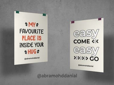 Using Photoshop to design 5 quotes, each with 2 designs to give variety to the client.
