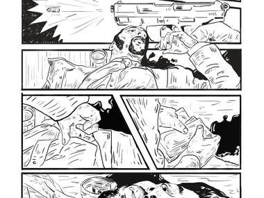 I draw American Gangster twenty percent scane story board. This scane total 2.30 minute.