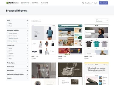 Shopify store built for my client