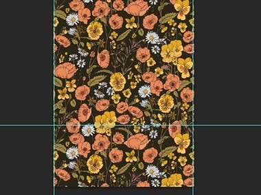 Few samples of textile prints/patterns.