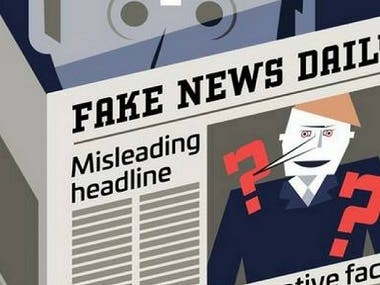 A simple tool that accepts a news, queries it over google and generates a score for the legitimacy of the news based on an algorithm. It dynamically checks whether a given news is Real of Fake.