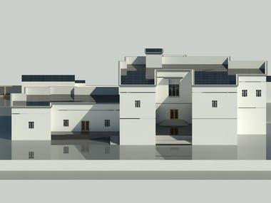 3D Exterior Rendering For A Villa In Qatar