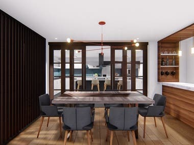 This project consisted of the design of the expansion of the Argudo Family building in the city of Loja, Ecuador. The architectural and interior design of an apartment and terrace of the family building was carried out, according to all the requirements, needs and preferences of the Argudo family.