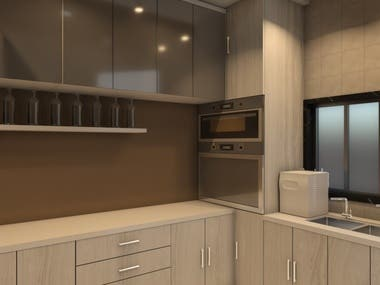 Design in AutoCAD and modelling in 3Ds Max + V ray + Photoshop