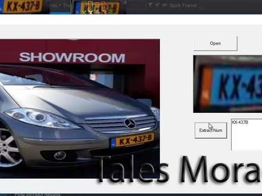 The images here show the detection and recognition of a car number in an image or video.