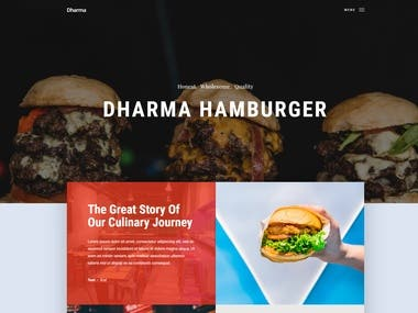 This site was developed for a fast food.