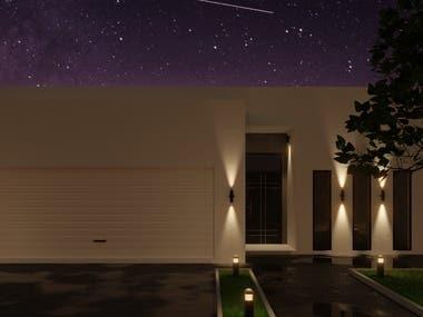 Modern house exterior visualization.