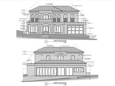 2D Floor plan & Elevation