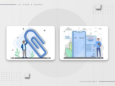 User interface elements and icons