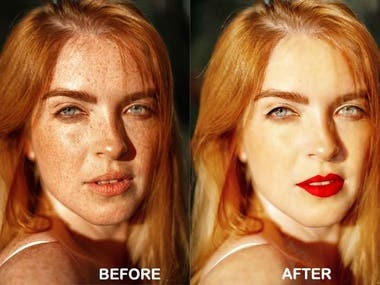 I can do any photoshop editing . I can change background, Color correction, photo resize, remove unwanted objects and any other photoshop editing.