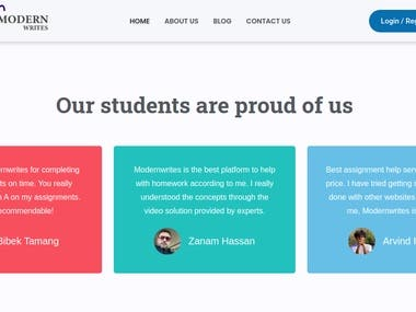 Modern Writes is an education website. It mainly focuses on solving assignment and providing assignment assistance to the university Students. So, if you are struggling with your assignment please do visit http://modernwrites.com/. Here, our expert at moderwrites will help you solve assignment questions and provide you help in subjects like Physics, Chemistry and Mathematics.