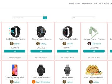 I can develop online auction website with typescript, graphql, apollo, react.js, next.js, node.js, nestjs, cloudflare, cloud mongodb and etc. Real time online bid state monitoring for auction is one of the main skills here, and it was implemented by graphql subscription technology with apollo.